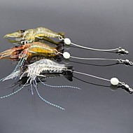 3 pçs Isco Suave / Amostras moles Iscas Lagostins-de-rio / Camarão Isco Suave / Amostras moles Plástico Suave Luminoso Pesca de Mar Pesca