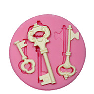 silicone skimmel / mug steampunk skelet nøgle til håndværk smykker chokolade fondant PMC harpiks ler