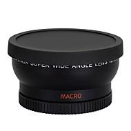 0.45x 58mm nagylátószögű objektív Nikon Canon EOS 500D lázadó T1I T2i T3i t4i 450d 550D