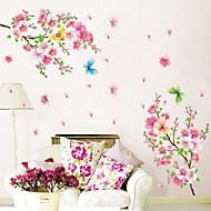 Botanisch Romantik Stillleben Mode Blumen Wand-Sticker Flugzeug-Wand Sticker Dekorative Wand Sticker Stoff Abziehbar Haus Dekoration