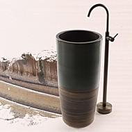 זול פליז עציק Series-ברז לאמבטיה - עתיקה פליז עתיק רכוב ריצפתי שסתום קרמי