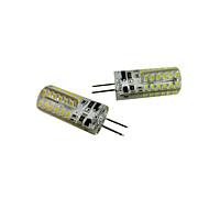 billige Bi-pin lamper med LED-2pcs 2.5W 200-250 lm G4 LED-kornpærer T 48 leds SMD 3014 Varm hvit Kjølig hvit DC 12 V