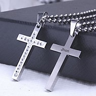 Personalized Gift Casting Stainless Steel Cross Shaped Pendant Necklace Engraved Jewelry