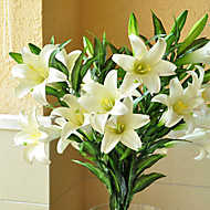 1 Branch Silica Gel Lilies Tabletop Flower Artificial Flowers