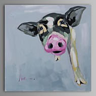 Oil Painting Modern Abstract Pig Hand Painted Canvas with Stretched Frame
