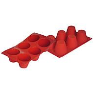 baratos Moldes para Bolos-Four-C moldes de cozimento ferramentas de silicone bolo queque bakeware, ferramentas de decoração moldes panelas suprimentos queque cor vermelho