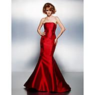 Sirena kroj Bez naramenica Srednji šlep Saten Prom / Formalna večer Haljina s Aplikacije po TS Couture®