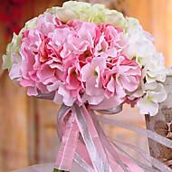 billige Kunstige blomster-1 Gren Silke Hortensiaer Bordblomst Kunstige blomster