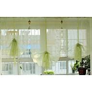 baratos Cortinas Transparentes-Sheer Curtains Shades Sala de Estar Poli / Mistura de Algodão Bordado
