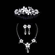 Hjerte legering bryllup / fest smykker sæt med rhinestone elegant stil