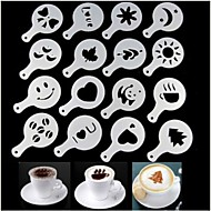 cheap Coffee and Tea-16pcs Coffee Makers Tool Set Coffee Maker Set Print Plastics Coffee