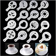 16pcs modelo de impressão para fazer café plástico fantasia design minimalista varredura pad