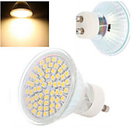 GU10 LED-spotpærer 60LED leds SMD 3528 Varm hvit Kjølig hvit 300-560lm 2800-3500/6000-6500K AC 220-240V