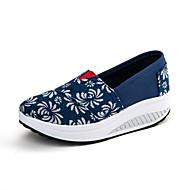 Chaussures Bleu Toile Marche Homme