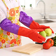 halpa -50cm pitkä hihat lateksia käsineet keittiö pestä astiat puhdistus vedenpitävä