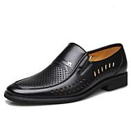 baratos Sapatos de Tamanho Pequeno-Homens Sapatos Couro Sintético Primavera / Verão / Outono Conforto Preto / Marron