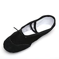 """billige Ballettsko-Dame Ballett Lerret Lær Flate Snøring Flat hæl Svart Hvit Rød Rosa Under 1 """" Kan ikke spesialtilpasses"""