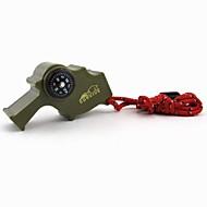 Survival Whistle Exterior Assobio / Multifunção Plástico Verde