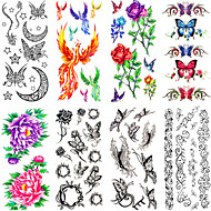 cheap Temporary Tattoos-12 Non Toxic Pattern Waterproof Animal Series Flower Series Others Tattoo Stickers