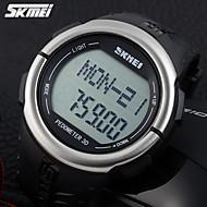 billige Sportsur-SKMEI Herre Quartz Digital Japansk Quartz Digital Watch Sportsur Alarm Kalender Kronograf Vandafvisende Pulsmåler LCD Gummi Bånd Vedhæng