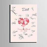 billige Signaturrammer og fat-e-home® personlig signatur lerret ramme-rose elsker korall bryllup