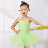 cheap Dancewear & Dance Shoes-Ballet Leotards Training Performance Spandex Tulle Sleeveless Princess Dress