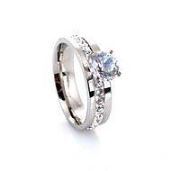 povoljno Modno prstenje-Žene Band Ring Pink Sintetički gemstones Kristal Imitacija dijamanta Legura Četiri drška Luksuz Ljubav Moda Europska Vjenčanje Party Dar