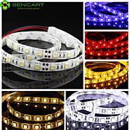 Χαμηλού Κόστους Φώτα LED-1m Ευέλικτες LED Φωτολωρίδες 60 LEDs 5050 SMD Θερμό Λευκό / Άσπρο / Κόκκινο Μπορεί να κοπεί / Με ροοστάτη / Συνδέσιμο 12 V / Κατάλληλο για Οχήματα / Αυτοκόλλητο