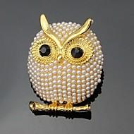 hesapli -Kadın's Broşlar Kişiselleştirilmiş Çiçek Euramerican Moda Yapay Elmas alaşım Hayvan Altın Gümüş Mücevher Uyumluluk Düğün Parti Özel Anlar