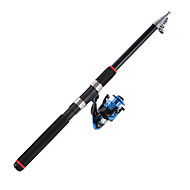 cheap Fishing-Telespin Rod Telespin Rod Carbon 2.1/2.4/2.7/3.0/3.6 cm Sea Fishing 5/6/7 sections Rod Fast (F) Extra Heavy (XH)