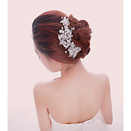 cheap Wedding Headpieces-Women's Pearl Crystal Alloy Crystal Pearl White