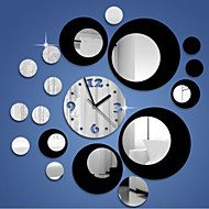 Creative Three-dimensional Roundness 3D Mirror Wall Clock