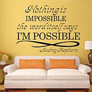 Slova a citáty Samolepky na zeď Slova a citáty Nálepky na zeď Ozdobné samolepky na zeď, PVC Home dekorace Lepicí obraz na stěnu Glass /