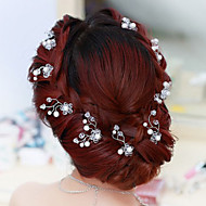 cheap Wedding Headpieces-Flower Shape Pearl Hair Clip Bride Hair Wedding Headdress Wedding Accessories One Piece