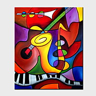 voordelige -Handgeschilderde Abstract Pystysuora panoraama, Abstract Hang-geschilderd olieverfschilderij Huisdecoratie Eén paneel