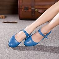"""billige Kustomiserte dansesko-Dame Moderne Glimtende Glitter Høye hæler Ytelse utendørs Profesjonell Nybegynner Trening Spenne Kustomisert hæl Svart Lyseblå 2 """"- 2 3/4"""""""