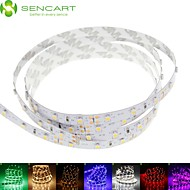 cheap LED Strip Lights-SENCART Flexible LED Light Strips 60 LEDs Warm White RGB White Green Yellow Blue Red Cuttable Dimmable Self-adhesive Suitable for