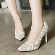 Sko - Glitter - Stiletthæl - Hæler / Spiss tå - høye hæler - Formell - Rød / Hvit / Gull