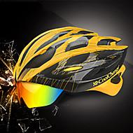 CoolChange 25 Aération EPS PC Des sports Vélo tout terrain / VTT Cyclisme sur Route Cyclisme / Vélo - Rouge noir Jaune / noir. Bleu / blanc Unisexe