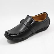 男の子用-アウトドア-フェイクファー-フラットヒール-幼児用靴-ボート用シューズ-ブラック