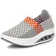 Dames Sneakers Lichtzolen Comfortabel Weefsel Lente Zomer Buiten Casual Sport Gevlochten bandje Sleehak Hak Grijs Perzik Groen Blauw2,5 -