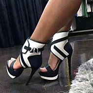 Women's Sexy high heels Stiletto Heel Peep Toe Black Sandals Party Shoes
