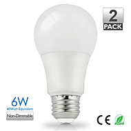 billige Globepærer med LED-1pc 6W 500 lm E26/E27 LED-globepærer A60(A19) 14 leds SMD 5630 Varm hvit Kjølig hvit Naturlig hvit 2700-5000K AC 220-240 AC 110-130V