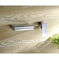 Single Handle Wall Mount Widespread Waterfall Bathroom Vanity Sink Lavatory Faucet, Chrome