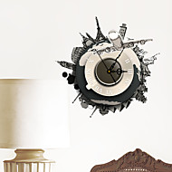 Musique 3D Stickers muraux Stickers muraux 3D Stickers muraux décoratifs Stickers horloge Matériel Lavable Décoration d'intérieurCalque