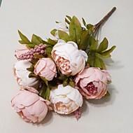 europeisk stor peon blomst kunstig blomster hjemme dekorasjon