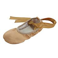 baratos Sapatilhas de Dança-Mulheres Balé / Sapatilhas de Balé / Ioga Cetim Sapatilha Cadarço de Borracha Sem Salto Não Personalizável Sapatos de Dança Vermelho /