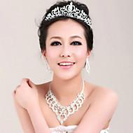 billiga Brudhuvudbonader-Akrylfiber Tiaras 1 Bröllop Speciellt Tillfälle Hårbonad
