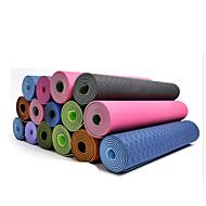Yogamatte 183*61* 0.06 Vanntett Fort Tørring Lugtfri Ikke-Gli Klistret Miljøvennlig Ikke Giftig 4.0 6 8.0 mmLilla Lyserød Blå Grønn