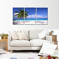 L ו-scape Leisure צילום רומנטי שלושה פנלים אנכי דפוס דקור קיר For קישוט הבית